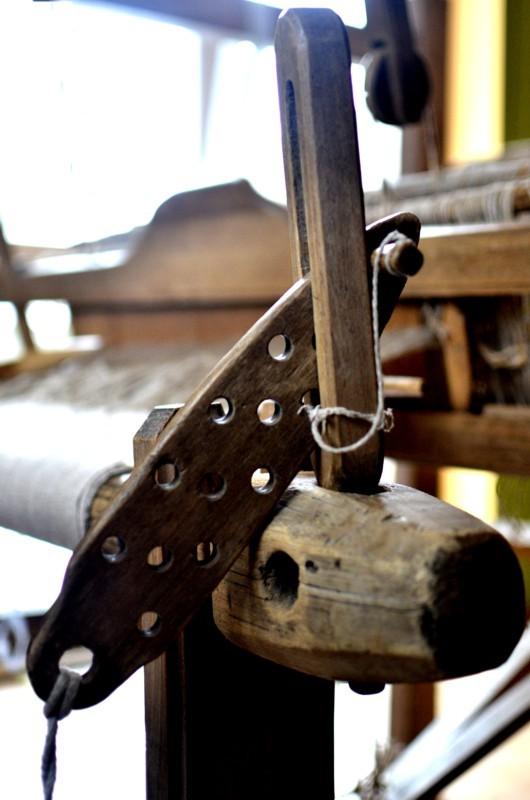 domek tkaczki blokada wału tkaninowego