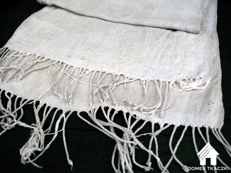 domek tkaczki - lniany ręcznik